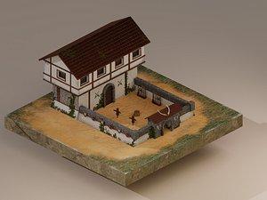 Warrior Barracks Level 1 model