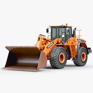 3D Front Loader Doosan DL 420 model