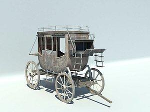 3D model Cart  rickshaw