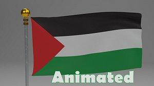 3D Palestine flag