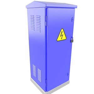 Electrical Enclosure Metal Box Cabinet 3D Model 32 3D model