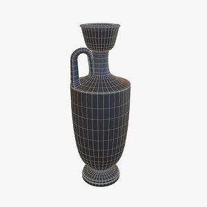 greek lekythos vase 3D model