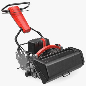 professional walk reel mower 3D model