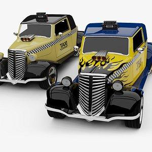 3D Unity 3D Generic HotRod RAT Taxi