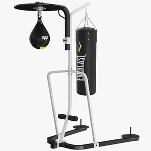 real punching bag stand 3D model