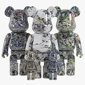 Bearbrick Jackson Pollock 3D model