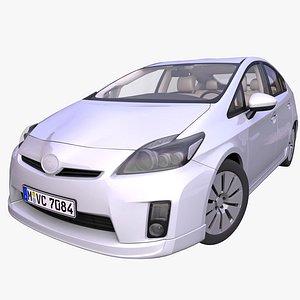 generic hybrid hatchback interior car 3D model