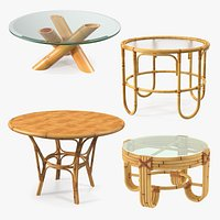 Round Bamboo Rattan Table Collection 2