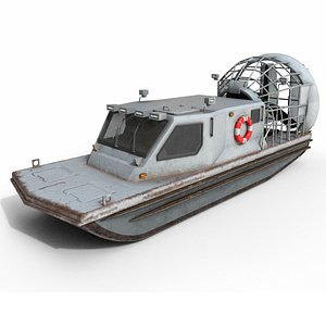 3D airboat boat air model