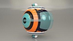 Cute Robot Head 3D