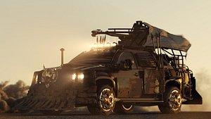3D car apocalyptic model