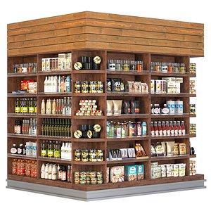 3D model Supermarket showcase