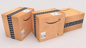 3D Amazon Cardboard Box model