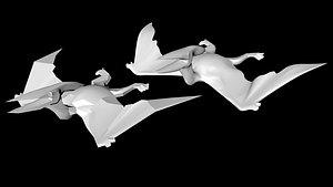 3D pterodactyl dino dinosaur