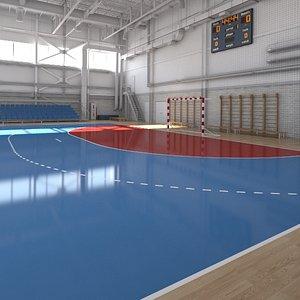 3D handball ball