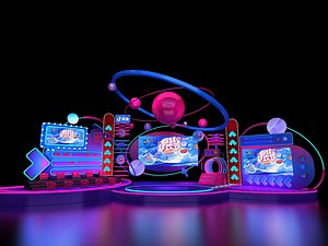 3D Stage Concert Stage Design Large-scale stage Choreography New Year Eve music Festival Light show