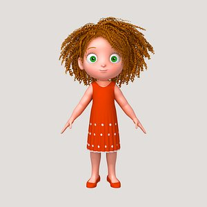 Girl 05 Cartoon 3D model