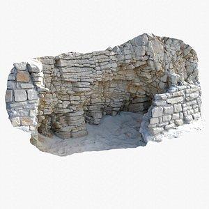 3D Rock 3D Scan Cave