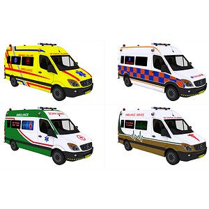 ambulance van vehicle 3D model