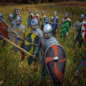 Norman Warriors 3D model