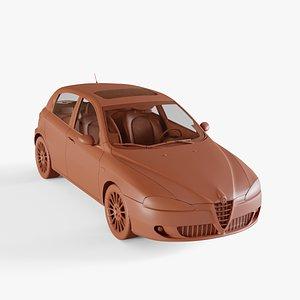 3D alfa romeo 147 model