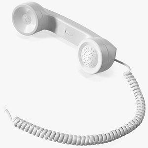 Vintage Phone Handset 3D model