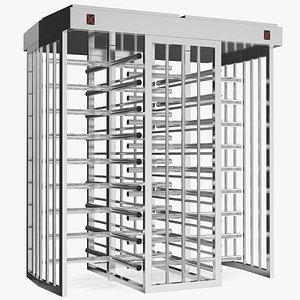 Stainless Steel Dual Lane Security Turnstile model