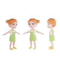 Girl orange hairstyle