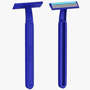 3D gillette shaving razor