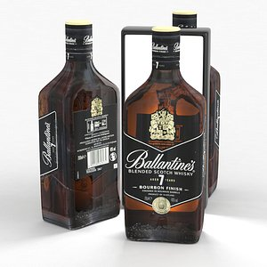 3D model Alcohol Bottle Ballantines Whisky Aged 7 Years Bourbon Finish 700ml 2021