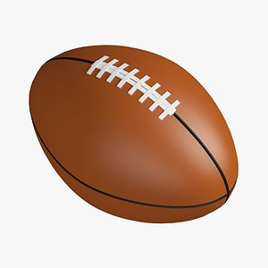 3D american ball football model