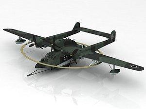 3D Blohm Und Voss BV 138M Hydroplane model