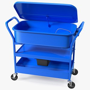 3D mobile parts washer cart model