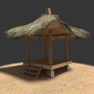 gazebo 1 thatch 3D model