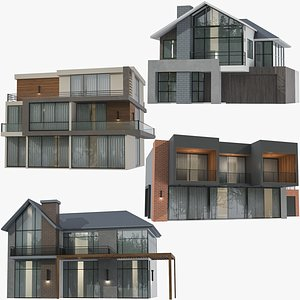 Modern Houses Collection 3D model