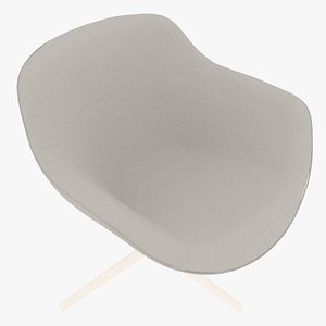 3D model Cassina 277-22 Auckland Arm Chair Snowy Fabric White Body