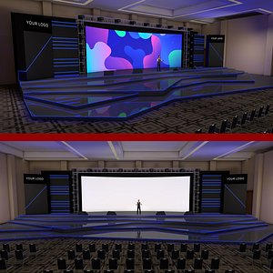 3D hotel meeting room model