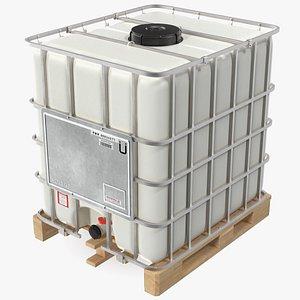3D Kruizinga IBC Fluid Container 1000 Litre Wooden Pallet