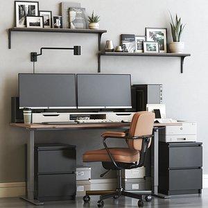 IKEA office workplace 56 3D