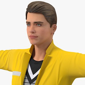 3D model Teenage Boy Fashionable Style Rigged for Maya