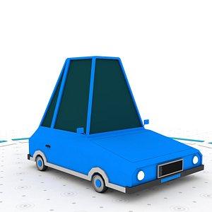Low poly car 3D