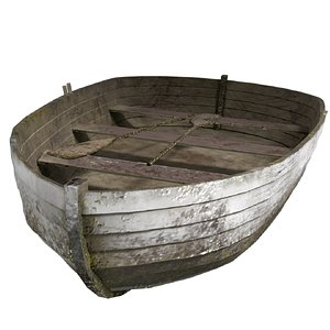 old paddle boat ready 3D