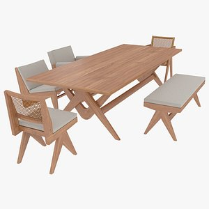 3D cassina wood table model