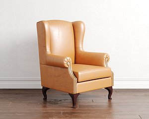 chair armchair wingback 3D model