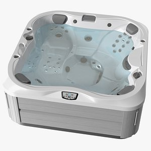 Jacuzzi J 335 Hot Tub White with Water 3D model