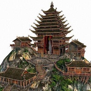 3D temple guanyin