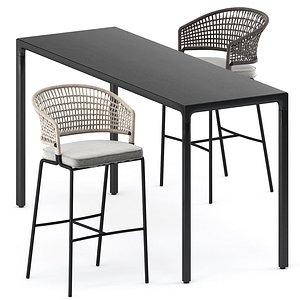 3D ILLUM bar table and CTR bar chair