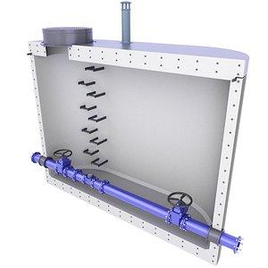 3D model Precast Concrete Water Meter Well Diagram 4