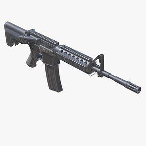 Assault Rifle AR M4 Low-poly 3D