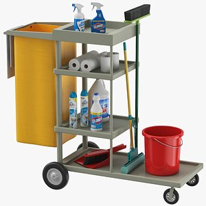 Cleaning Cart model